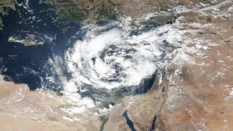 イスラエルに多発する台風