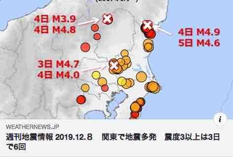 関東地震情報2019.12.8