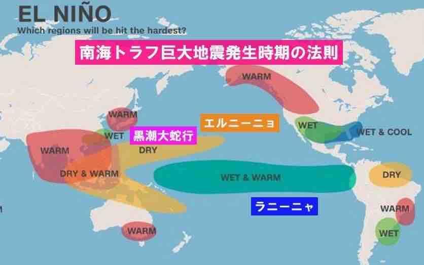 巨大地震発生時期の法則