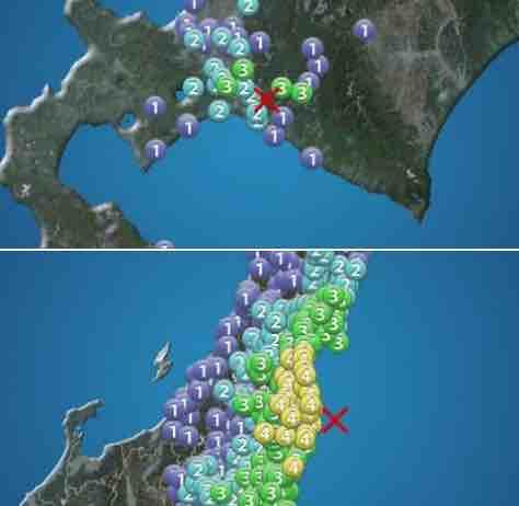 地震@北海道&福島
