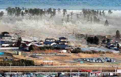 津波の前に潮は引く